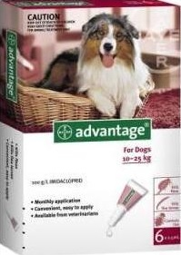 Advantage Large Dog Red