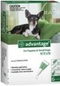 Advantage Small Dog Green