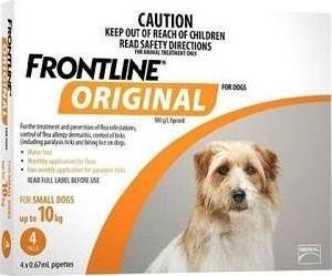 Frontline Original Small Dog Orange (Under 10kg)