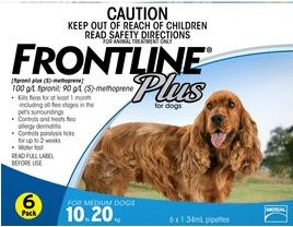 Frontline Plus Medium Dog Blue (10-20kg)