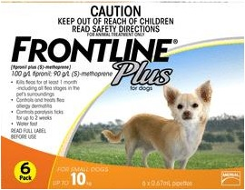 Frontline Plus Small Dog Orange (Under 10kg)