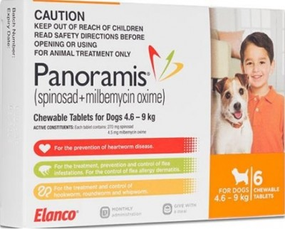Panoramis Chewable Tab Orange (4.6-9kg)