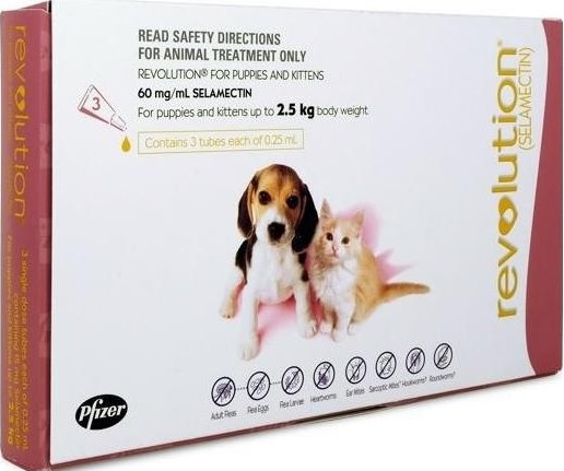 Revolution Puppies And Kittens Pink (Under 2.5kg)