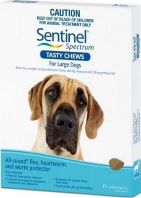Sentinel Spectrum Tasty Chews Large Dog Blue (22-45kg)