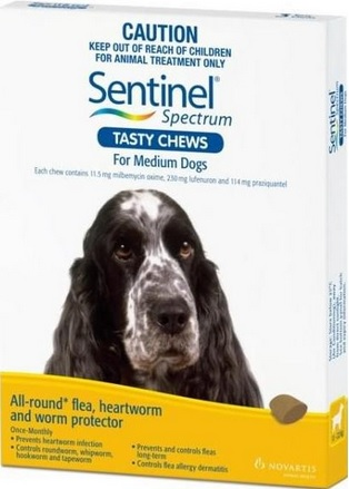 Sentinel Spectrum Tasty Chews Medium Dog Yellow (11-22kg)
