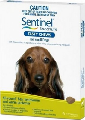 Sentinel Spectrum Tasty Chews Small Dog Green (4-11kg)