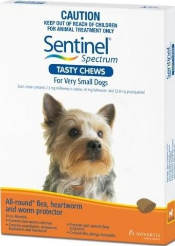 Sentinel Spectrum Tasty Chews Very Small Dog Brown (Up To 4kg)