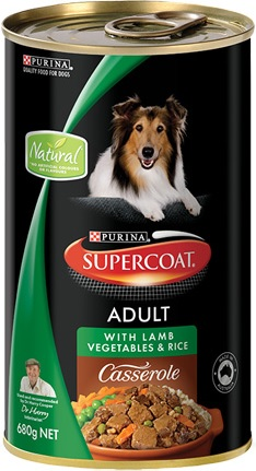 Supercoat Adult Casserole With Lamb, Vegetables And Rice (Wet Food)