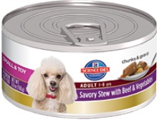 Hill's Science Diet Small & Toy Adult Savory Stew with Beef & Vegetables