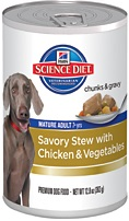 Hill's Science Diet Mature Adult Savory Stew with Chicken & Vegetable