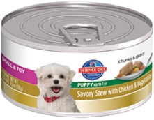Hill's Science Diet Small & Toy Puppy Savory Stew with Chicken & Vegetables