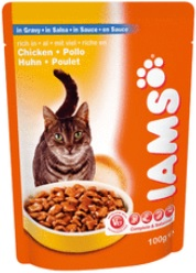 Iams Cat Adult Chicken In Gravy Pouch (Wet Food)