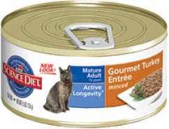 sd Mature Adult Gourmet Turkey Entrée