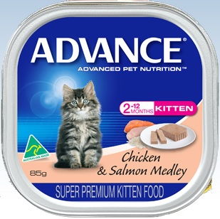 Advance Kitten Chicken And Salmon Medley