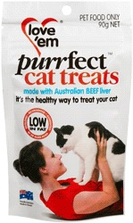 Love 'em Purrfect Cat Treats Beef