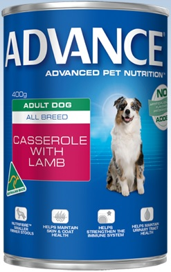Advance Adult All Breed Casserole with Lamb Cans