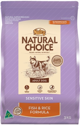 Nutro Natural Choice Sensitive Skin, Fish & Rice Formula