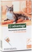 Advantage Kitten And Small Cat Orange (Up To 4kg)