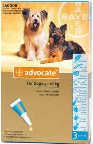 Advocate Medium Dog Blue (4-10kg)