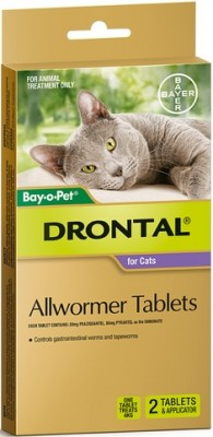 Drontal Cat Allwormer (2 Tablets With Applicator)