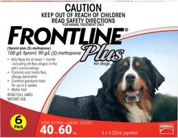 Frontline Plus Extra Large Dog Red (40-60kg)