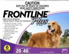 Frontline Plus Large Dog Purple (20-40kg)