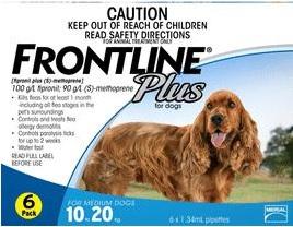 Frontline Plus Medium Dog Blue (10-20kg)