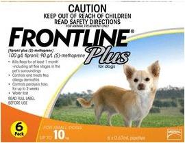 Frontline Plus Small Dog Orange (Under 10kg)