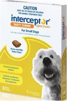 Interceptor Spectrum Tasty Chews Small Dog Green (4-11kg)
