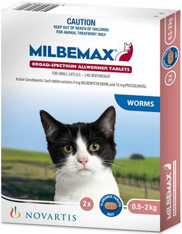 Milbemax Flavoured Cat Tablets (0.5-2kg)