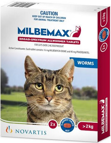Milbemax Flavoured Cat Tablets (2kg and over)
