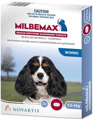Milbemax Tab Dog (0.5-5kg)