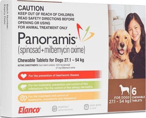 Panoramis Chewable Tab Brown (27.1-54kg)