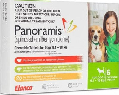 Panoramis Chewable Tab Green (9.1-18kg)