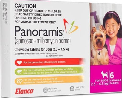 Panoramis Chewable Tab Pink (2.3-4.5kg)