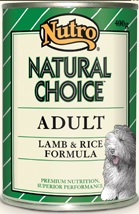 Nutro Natural Choice Adult Lamb & Rice Formula