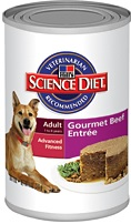 Hill's Science Diet Adult Gourmet Beef Entrée