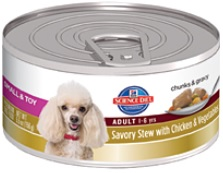 Hill's Science Diet Small & Toy Adult Savory Stew with Chicken & Vegetables