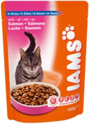 Iams Cat Adult Salmon In Gravy Pouch (Wet Food)