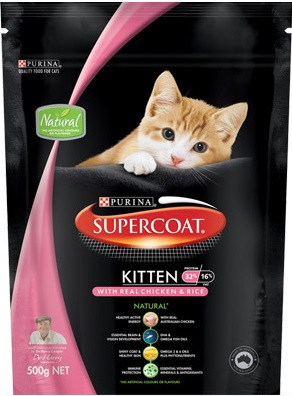 Supercoat Kitten With Real Chicken & Rice