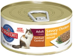 Hill's Science Diet Adult Hairball Control Savory Chicken Entrée