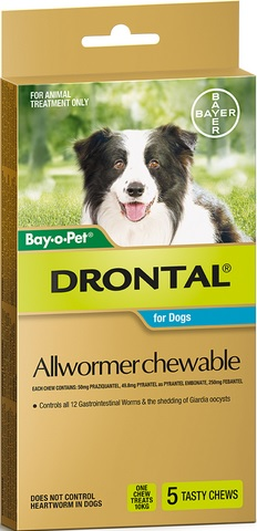 Drontal Allwormer Chewable 10kg
