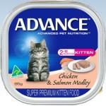 Advance Kitten Chicken And Salmon Medley
