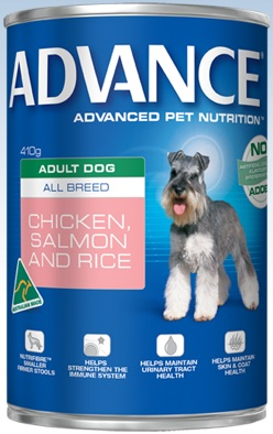 Advance Adult All Breed Chicken, Salmon And Rice Cans