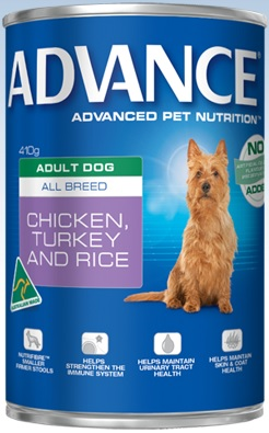 Advance Adult All Breed Chicken, Turkey And Rice Cans