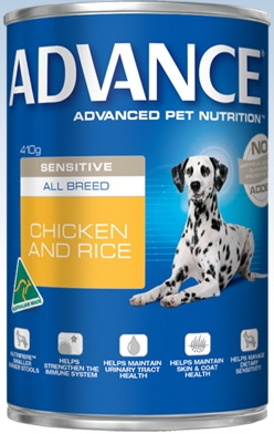 Advance Sensitive All Breed Chicken And Rice Cans
