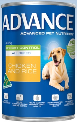 Advance Weight Control All Breed Chicken And Rice Cans