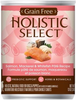 Holistic Select Grain Free Salmon, Mackeral & White Fish (cans)