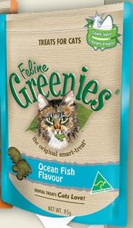 Greenies Feline Treats Ocean Fish Flavour